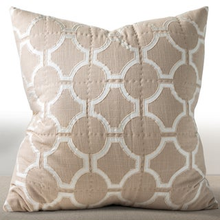 Francheschi Sand Silk Embroidered Euro Sham (fill not included)