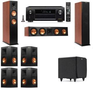 Klipsch RP-250F Tower Speakers CH-SDS12-7.1-Denon AVR-X4100W
