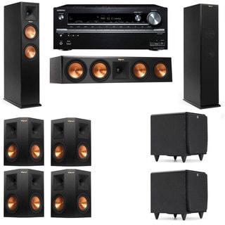 Klipsch RP-250F Tower Speakers-SDS12-7.2-Onkyo TX-NR838