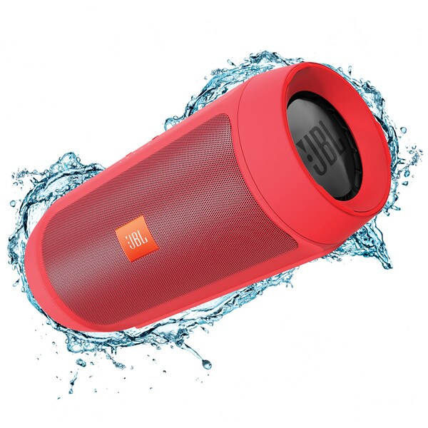 JBL Charge 2+ Portable Bluetooth Splashproof Speaker - Red