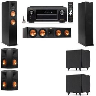 Klipsch RP-250F Tower Speakers-SDS12-5.2-Denon AVR-X4100W