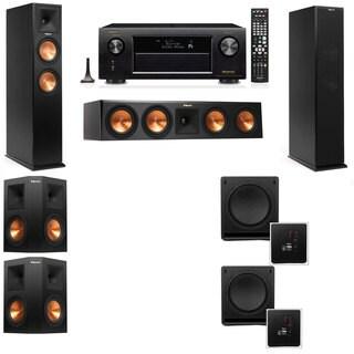 Klipsch RP-250F Tower Speakers-SW-112-5.2-Denon AVR-X4100W