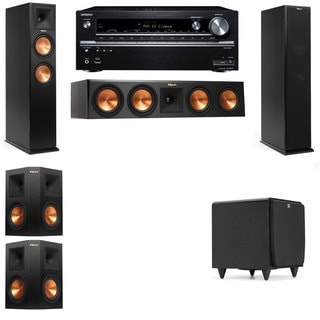 Klipsch RP-250F Tower Speakers-SDS12-5.1-Onkyo TX-NR838