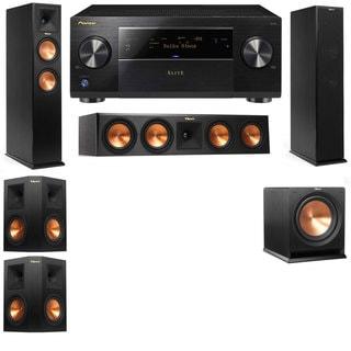 Klipsch RP-250F Tower Speakers-RP-450C-R112SW-5.1-Pioneer Elite SC-85