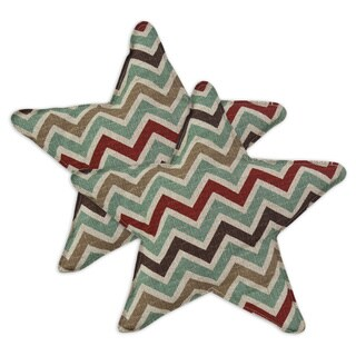 Zoom Zoom Nile Denton Star-shaped 13-inch Throw Pillow (Set of 2)