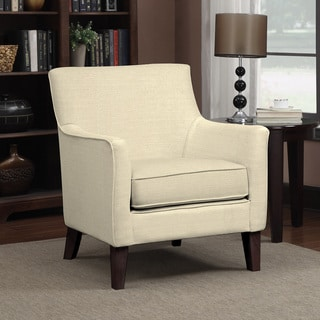 Portfolio Waldron Oatmeal Linen Arm Chair