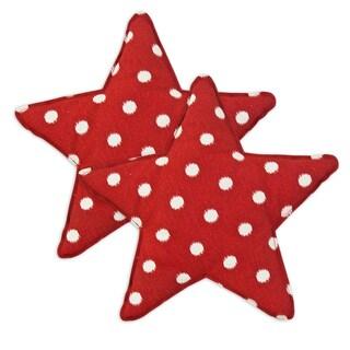 Ikat Dot Red Star Shaped Pillow (Set of 2)
