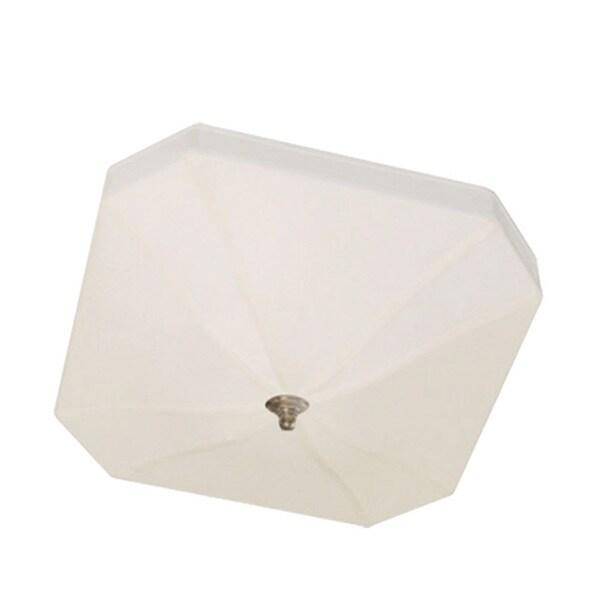 Dainolite 3-light Semi Flush Fixture with Cream Shade