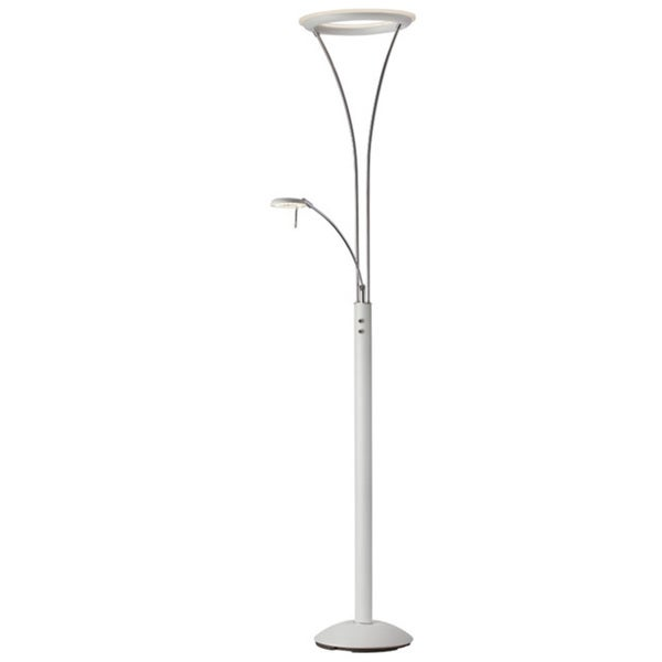 Dainolite Mother & Son LED Floor Lamp in White & Chrome Finish