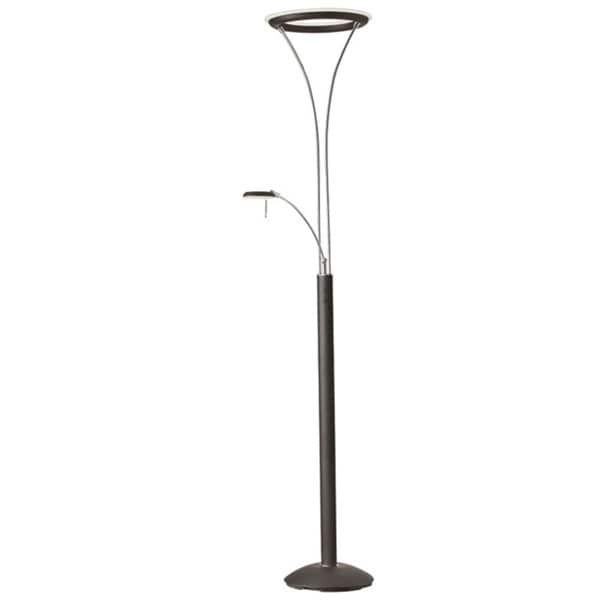 Dainolite Mother & Son LED Floor Lamp in Black & Chrome Finish