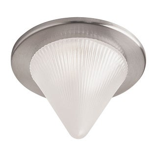 Dainolite Satin Chrome Trim Glass Cone