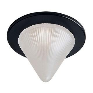 Dainolite Black Trim Glass Cone