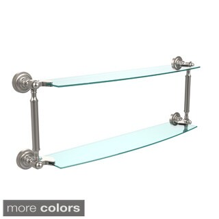 Dottingham Collection 24-inch 2-tiered Glass Shelf
