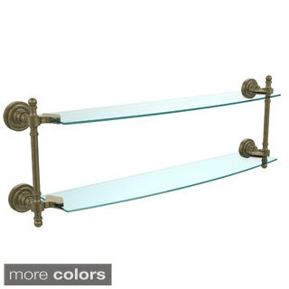 Retro Dot Collection 24-inch 2-tiered Glass Shelf