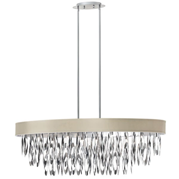 dainolite 8 light oval chandelier with pebble shade 15899257 all 438c