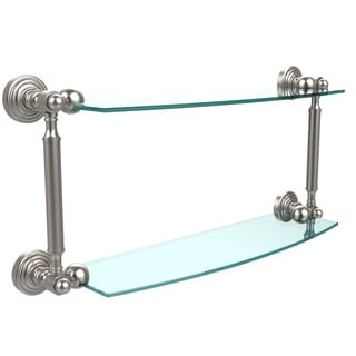 Waverly Place Collection 18-inch 2-tiered Glass Shelf