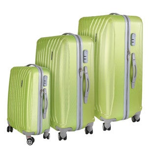 InUSA Miami Collection 3-piece Lightweight Hardside Spinner Luggage Set