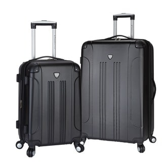 Traveler's Club Chicago 2-piece Expandable Hardside Spinner Luggage Set