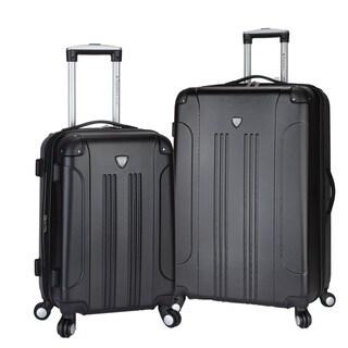 Travelers Club Chicago 2-piece Expandable Hardside Spinner Luggage Set
