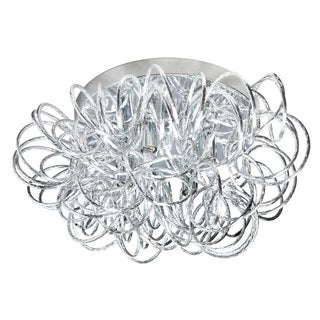 Dainolite 4-light Tubular Flush Mount Fixture in Polished Chrome Finish