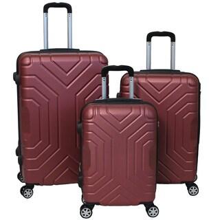 World Traveler Carrera 3-piece Lightweight Hardside Expandable Spinner Luggage Set