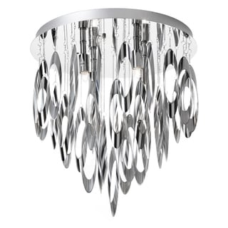 Dainolite 4-light Flush Mount Chandelier Polished Chrome Finish