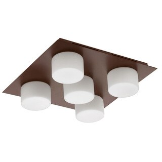 Dainolite 5-light Ceiling/Wall-light with Frosted Round Glass in Oil Brushed Bronze Finish