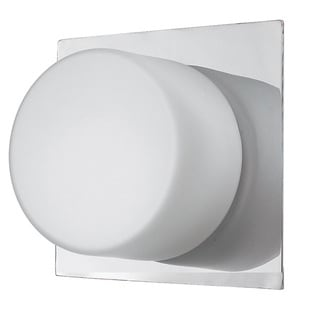 Dainolite 1-light Ceiling/Wall-light with Frosted Round Glass in Satin Chrome Finish
