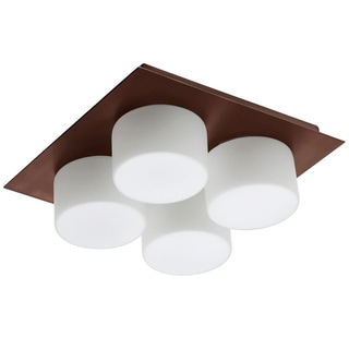 Dainolite 4-light Ceiling/Wall-light with Frosted Round Glass in Oil Brushed Bronze Finish