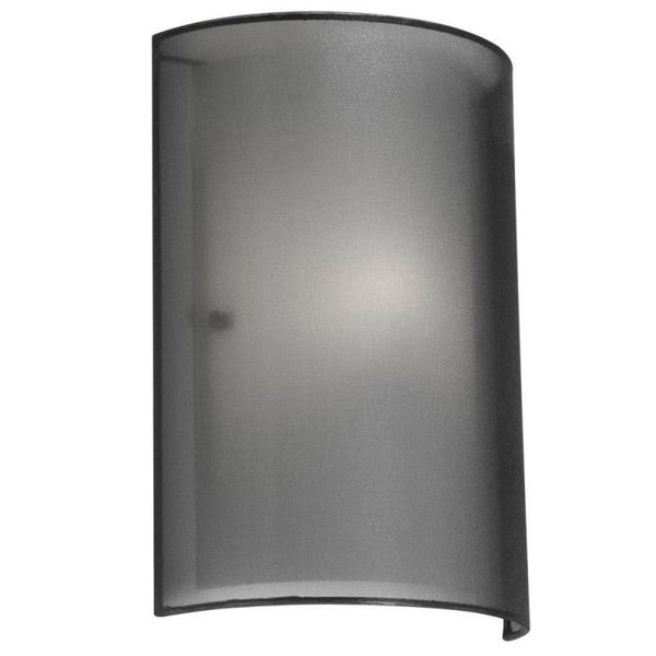 Dainolite 1-light Wall Sconce in Outside Shade Black Laminated Organza in Inside Shade White Frosted Glass