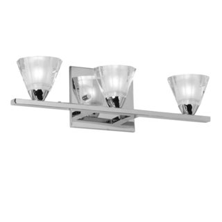 Dainolite 3-light Wall Sconce in Polished Chrome with Optical Crystal