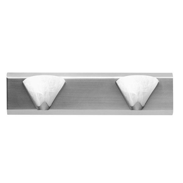 Dainolite 2-light Satin Chrome Wall Fixture