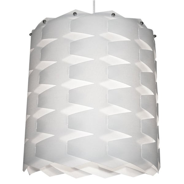 Dainolite 1-light Cross Hatch Pendant with White Shade