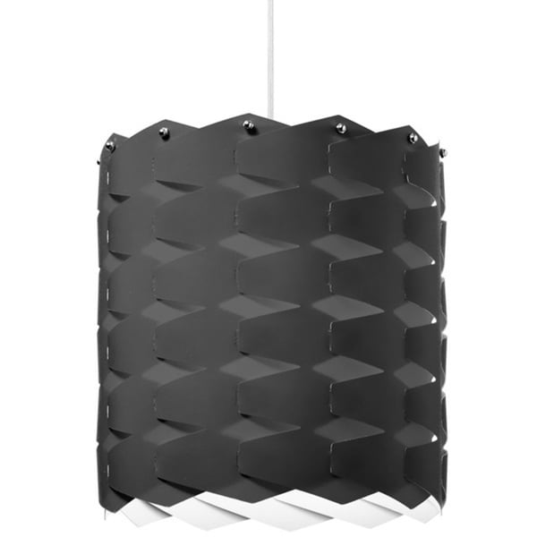 Dainolite 1-light Cross Hatch Pendant with Black Shade