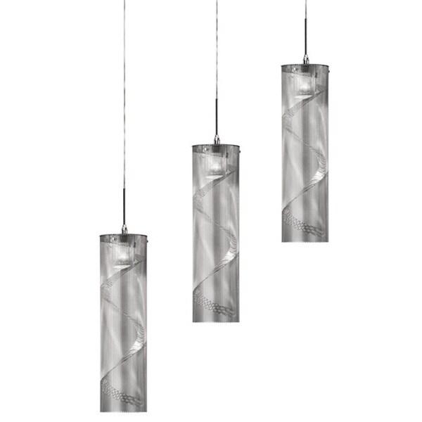 Dainolite 3-light Horizontal Polished Chrome Pendant in Umbra Series