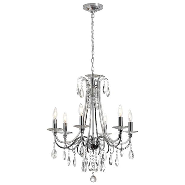 Dainolite 6-light Crystal Polished Chrome Chandelier 15900285