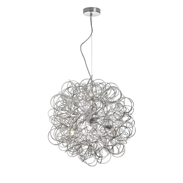 Dainolite 6-light Tubular Pendant in Polished Chrome Finish