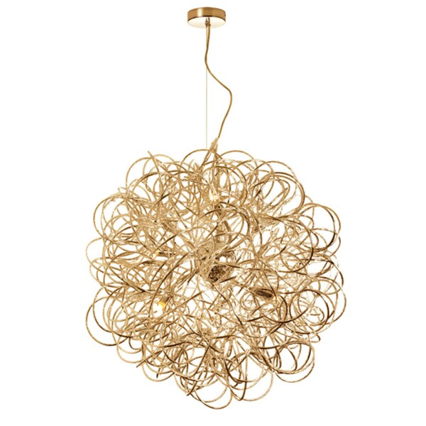 Dainolite 8-light Tubular Pendant in Gold Finish