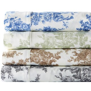 Home Fashion Designs Wingate Collection 400 Thread Count Cotton Rich Printed Luxury Sheet Set