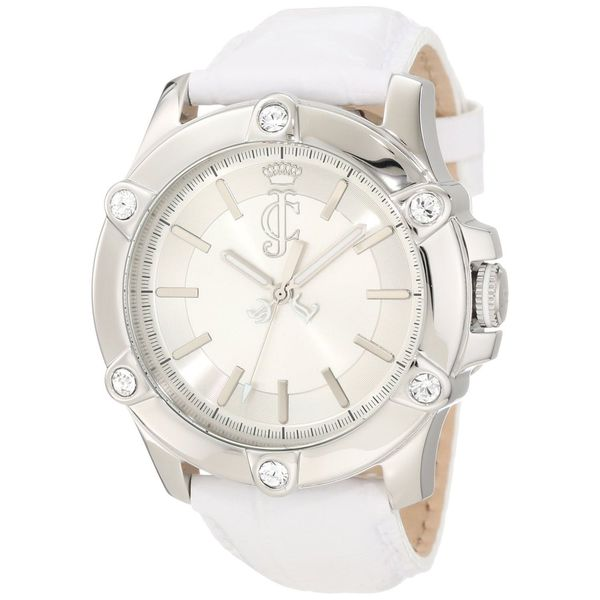 Juicy Couture Women's 1900940 Surfside Round White Leather Strap Watch