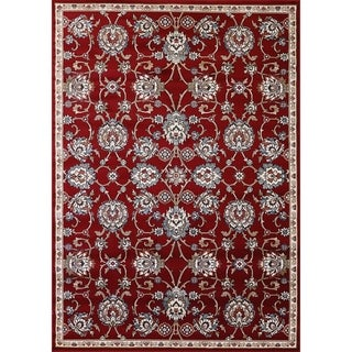 Cappella Traditional Medallion Red Area Rug (5'3 x 7'7)