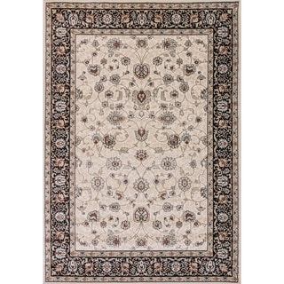 Cappella Traditional Floral Ivory Area Rug (5'3 x 7'7)