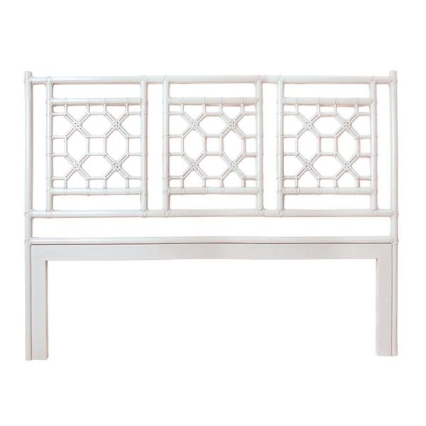 Johnstown White Modern Lattice Headboard