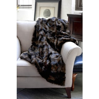Mink Faux Fur Chocolate Throw