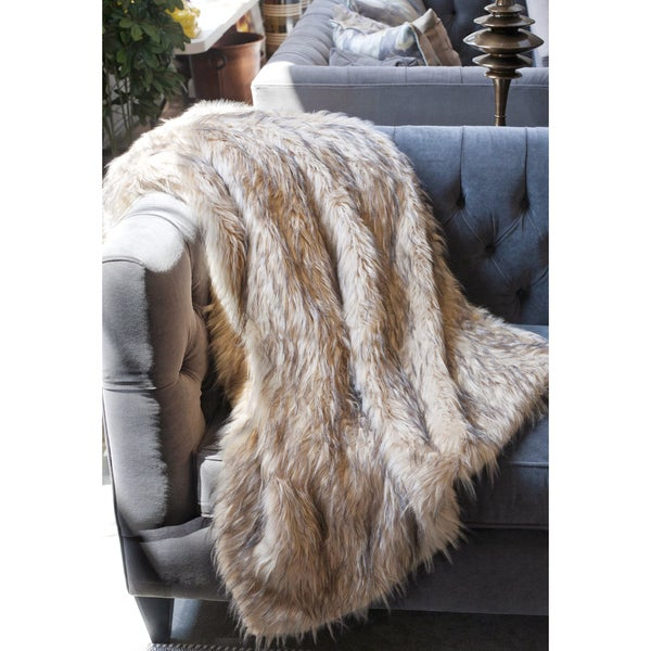 Lynx Faux Fur Throw