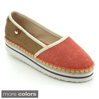 Betani Remi-1 Women's Two Tone Footbed Espadrille Slip Ons