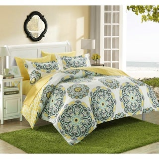 Porch & Den Rothbury Printed Medallion Reversible 3-piece Duvet Set