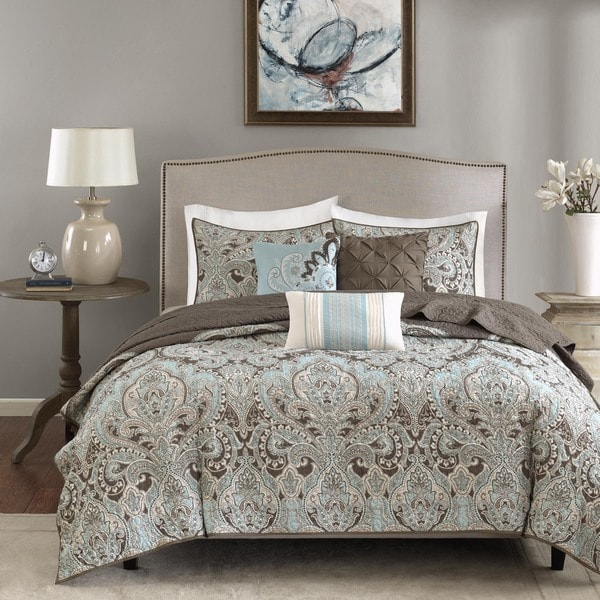 Madison Park Lavinia Quilted 6 Piece Coverlet Set