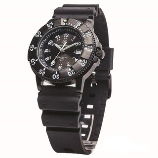 Smith and Wesson Diver Watch with Black Dial and Band