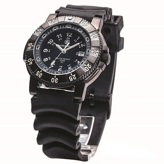 Smith and Wesson 357 Diver Swiss Tritium Watch with Rubber Band